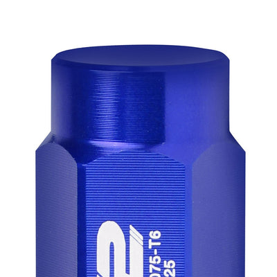 J2 Aluminum Blue Close End Acorn Tuner Lug Nuts Conical Seat M12x1.25 T7-018-Car & Truck Wheels-BuildFastCar