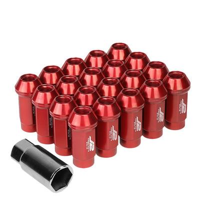 J2 Aluminum Red Close End Acorn Tuner Lug Nuts Conical Seat M12x1.25 T7-018