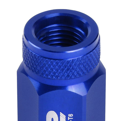 J2 Blue Open Knurled End Acorn Tuner Lug Nuts Conical Seat M12x1.25 T7-021-Car & Truck Wheels-BuildFastCar
