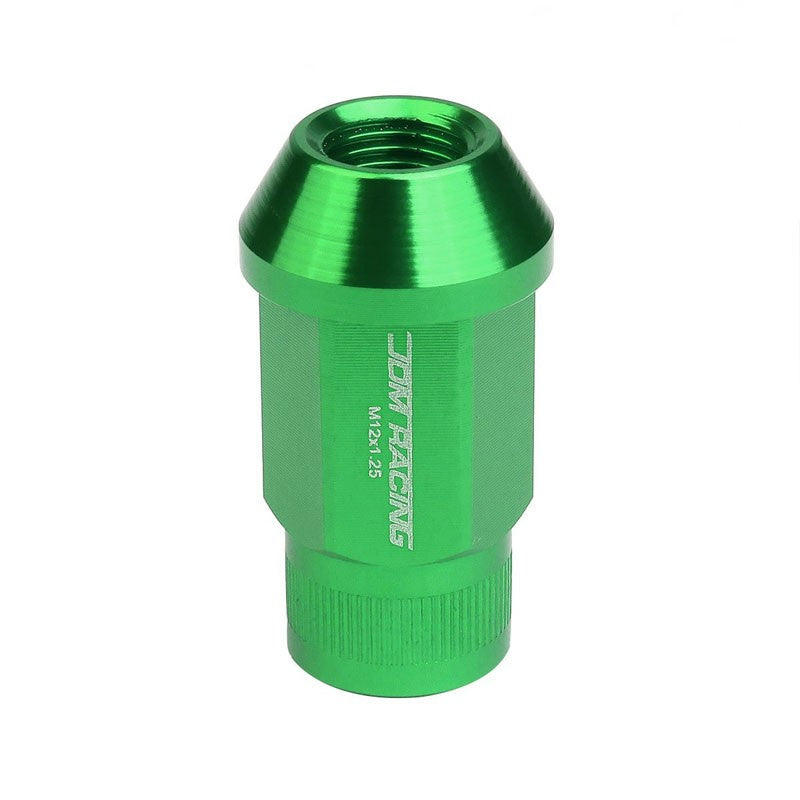 Green Aluminum M12x1.50 Conical Open Rim Acorn Tuner 16x Lug Nuts+4 Lock Nuts-Accessories-BuildFastCar