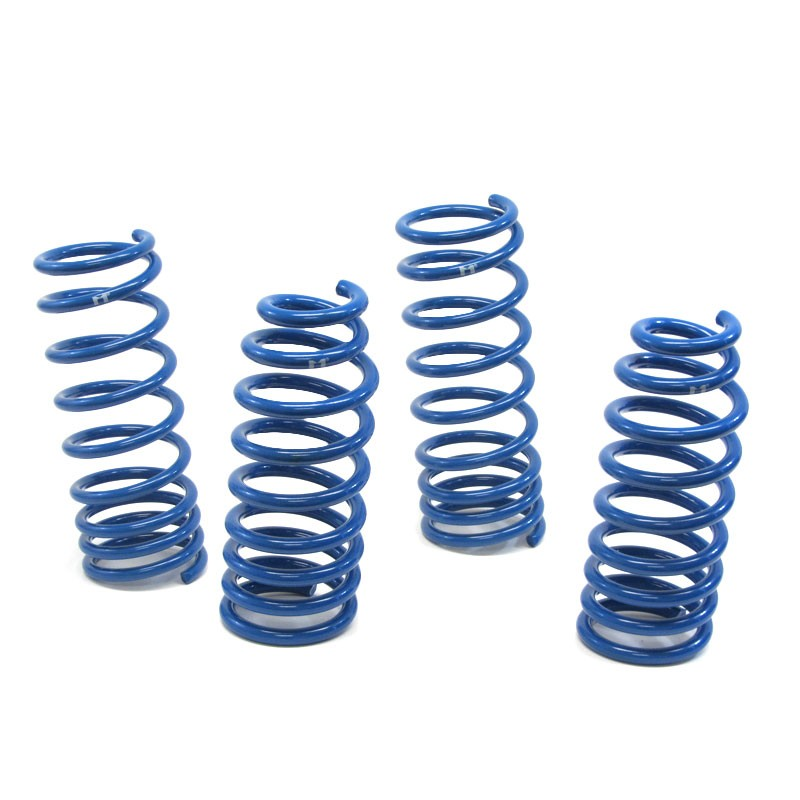 "Blue 2"" Drop Manzo Race Sport Lowering Spring Coil Kit For 08-10 Honda Accord V6-Suspension-BuildFastCar"