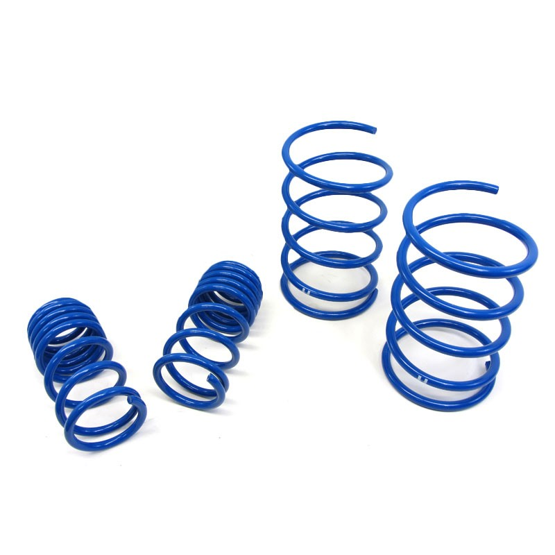 "Blue 2"" Drop Manzo Race Sport Lowering Spring Coil Kit For 05-06 RSX Base/Type-S-Suspension-BuildFastCar"