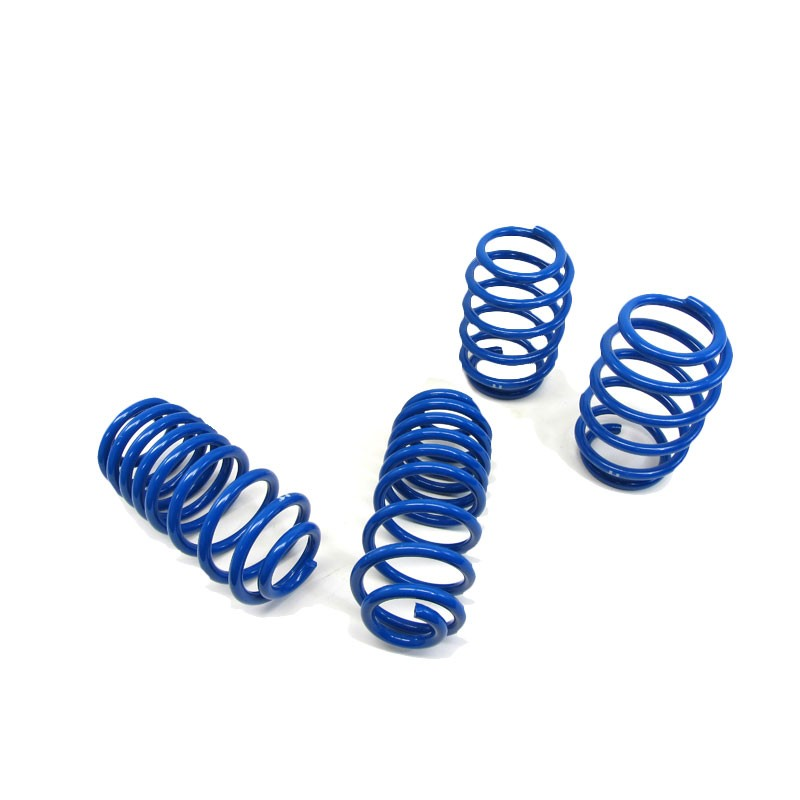 "Blue 1.5"" Drop Manzo Race Sport Lowering Spring Kit For 08-11 Audi TT 2.0T/3.2L-Suspension-BuildFastCar"