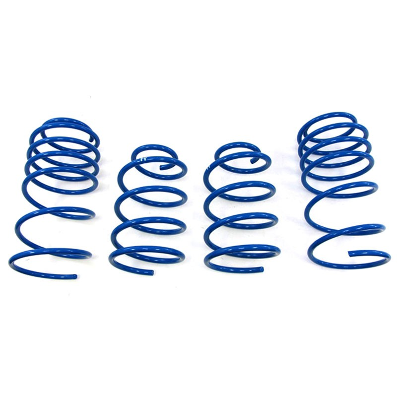 "Blue 1.25"" Drop Manzo Race Sport Lowering Spring Coil For 00-05 Dodge Neon 4DR-Suspension-BuildFastCar"