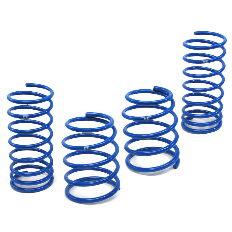 "Blue 2"" Drop Manzo Race Sport Lowering Spring For 98-02 Escort ZX2 Coupe 2.0L-Suspension-BuildFastCar"