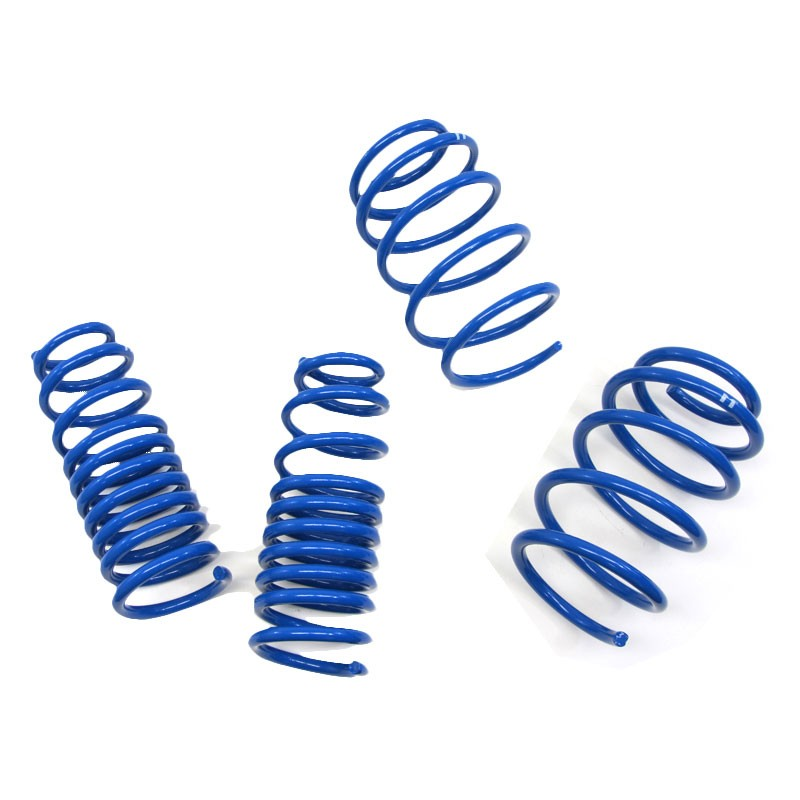 "Blue 1.5"" Drop Manzo Race Sport Lowering Spring Coil For 09-12 Genesis Coupe-Suspension-BuildFastCar"