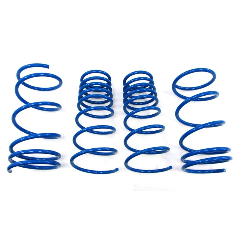"Blue 1.25"" Drop Manzo Race Sport Lowering Spring For 03-08 Hyundai Tiburon L4 V6-Suspension-BuildFastCar"