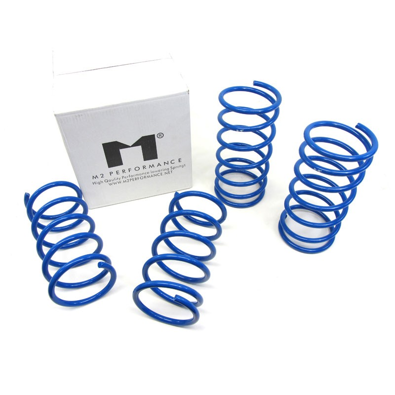 "Blue 1.75"" Drop Manzo Race Sport Lowering Spring Coil For 89-94 Nissan Sentra-Suspension-BuildFastCar"