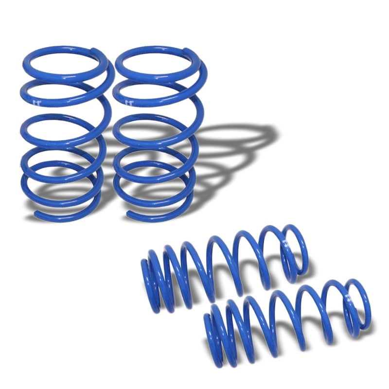 "Blue 1.5"" Drop Manzo Racing Performance Lowering Spring For 03-06 Scion xA xB-Suspension-BuildFastCar"
