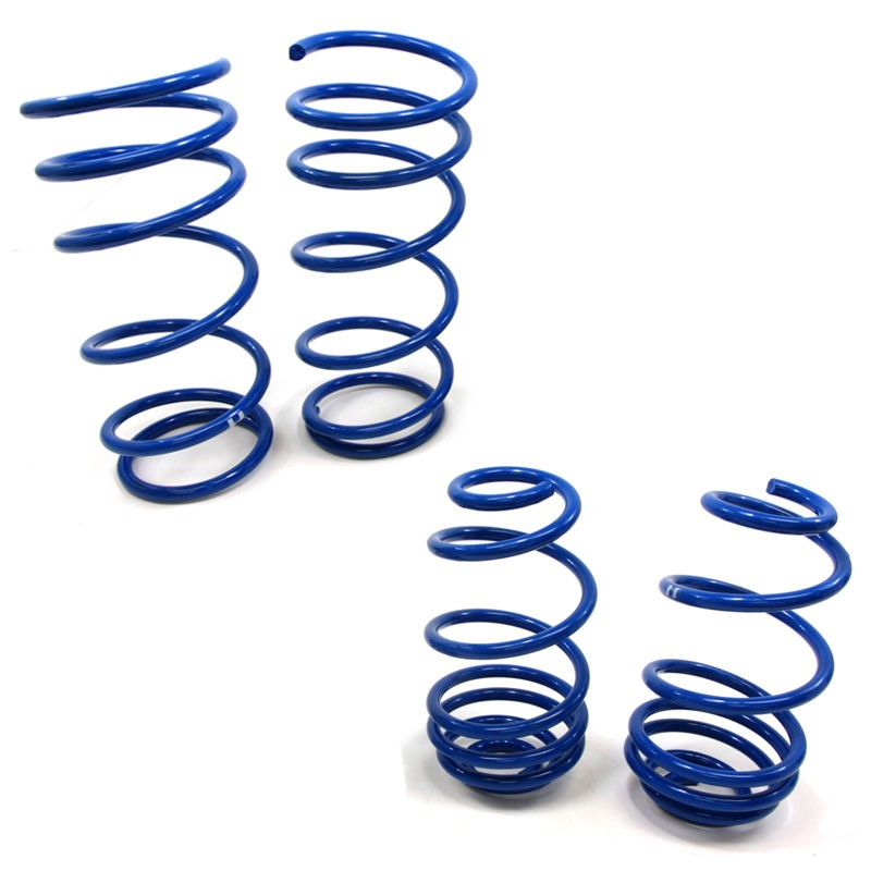 "Blue 2"" Drop Manzo Race Sport Lowering Spring Coil For 07-11 Nissan Versa C11-Suspension-BuildFastCar"