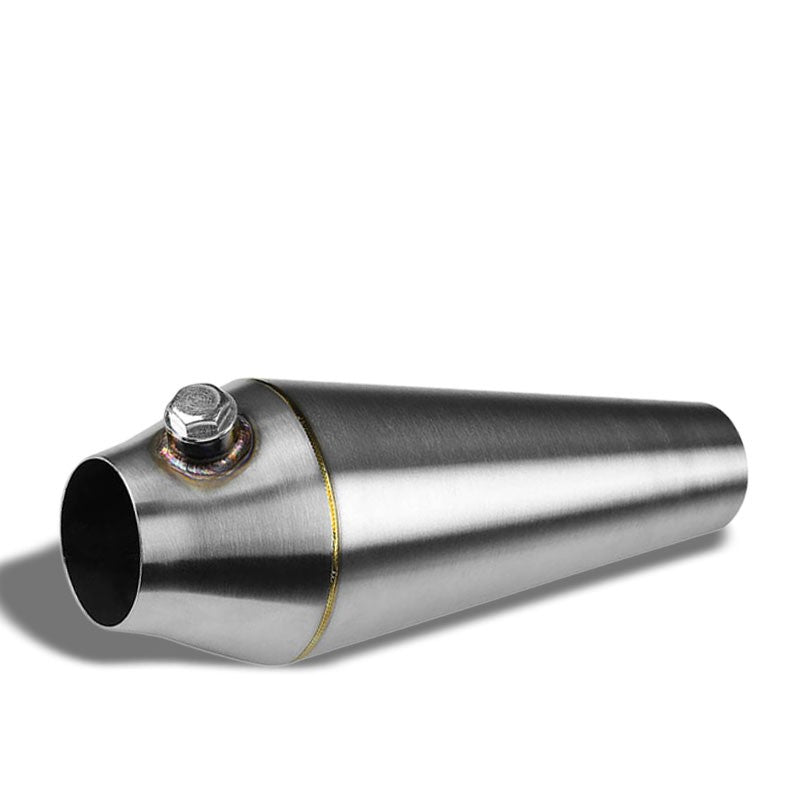 "2.25""-2.50"" 16 Guage SS Weld-On Racing Megaphone For Exhaust Downpipe Header-Performance-BuildFastCar"
