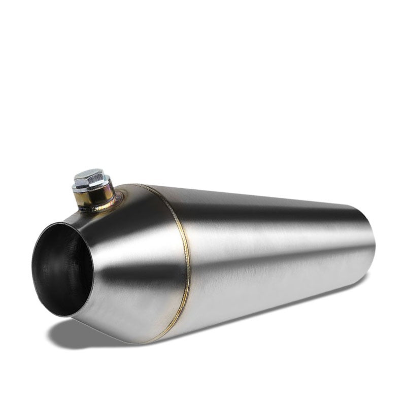 "2.50""-2.25"" 16 Guage SS Weld-On Racing Megaphone For Exhaust Downpipe Header-Performance-BuildFastCar"