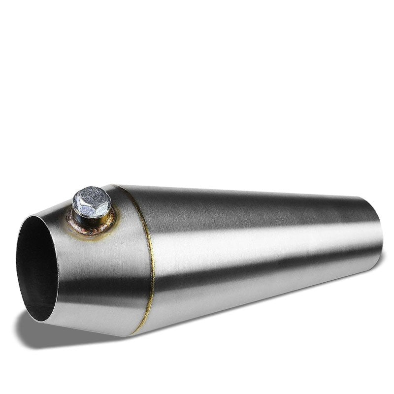 "2.50""-3.00"" 16 Guage SS Weld-On Racing Megaphone For Exhaust Downpipe Header-Performance-BuildFastCar"