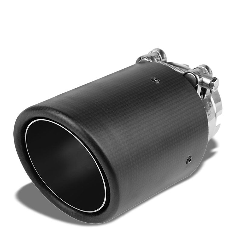 "Clamp On Carbon Filber 3.5"" Racing High Flow Exhaust Muffler Tip For 2.5"" Pipe-Performance-BuildFastCar"