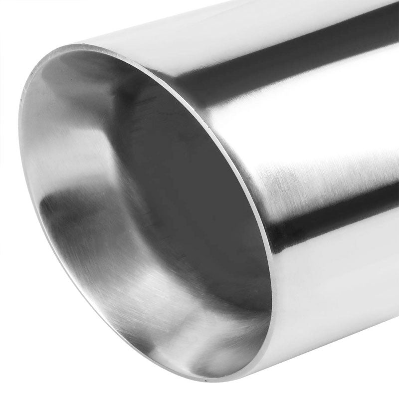 "2PCs 3"" Inlet Stainless Steel  Round Rolled Exhaust Muffler Tip 7.75""L/4.0"" Tip"
