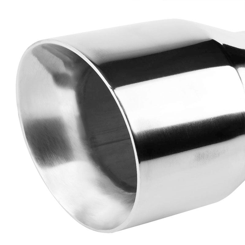 "3"" Inlet Stainless Steel  Round Cut Rolled Exhaust Muffler Tip 8.25""L/4.5"" Tip"