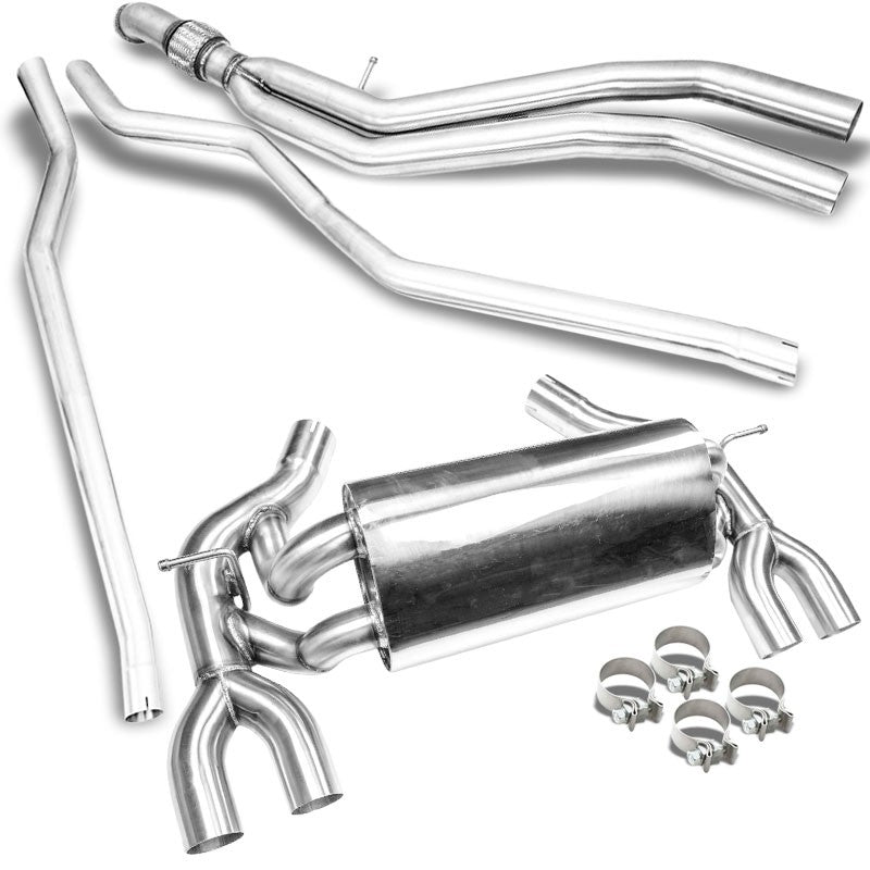 Megan Racing Metallic Stainless Steel Exhaust Catback System For 16-19 BMW M2