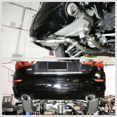 Megan Exhaust Catback System & Midpipe w/Burnt Blue Tips For 16-20 Infiniti Q50-Major Pipe-BuildFastCar