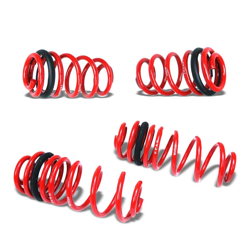Red 45mm Drop Megan Racing Sport Lowering Spring Coil For 2014+ Porsche Macan-Suspension-BuildFastCar