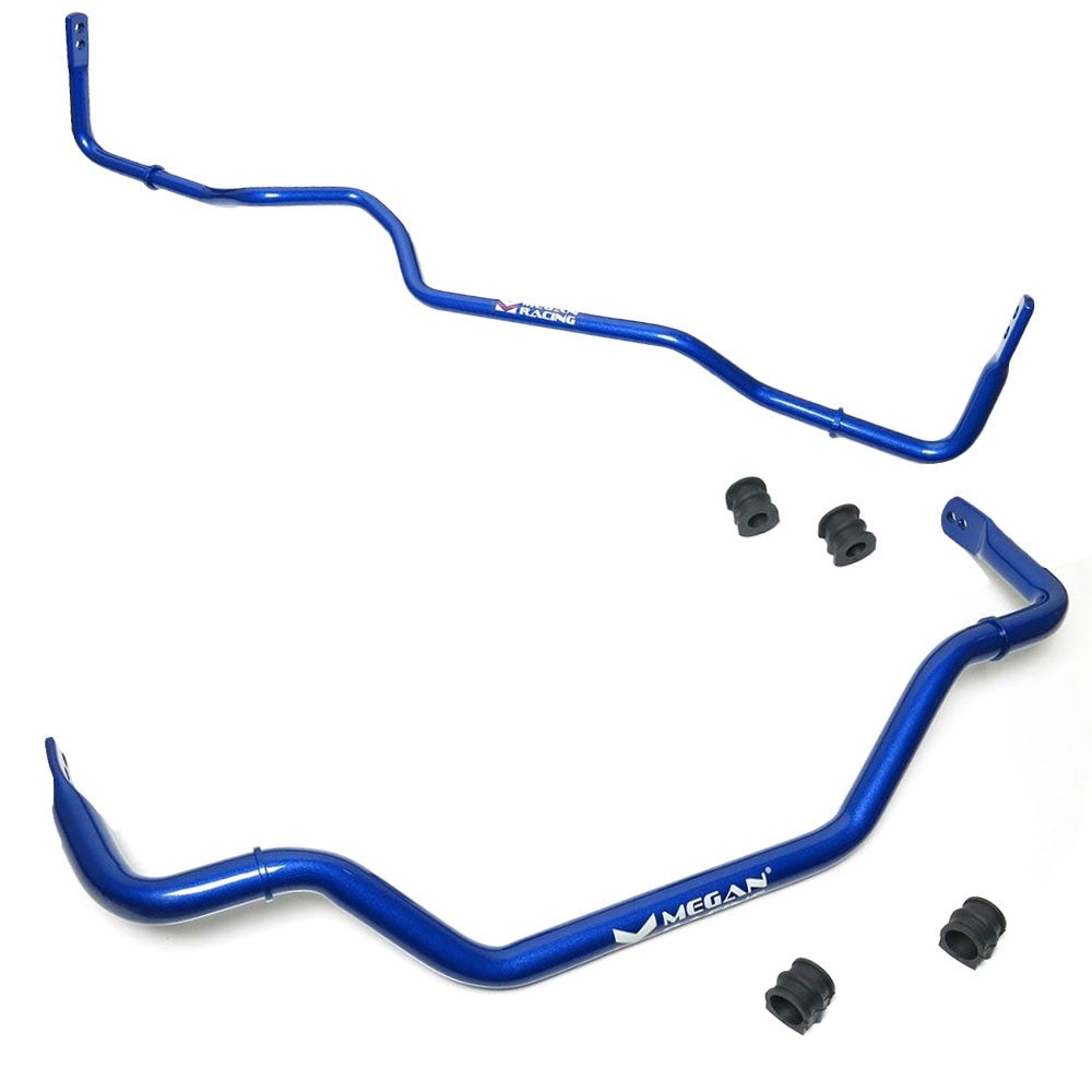 Megan Racing Blue Steel Alloy Front+Rear Sway Bar For 03-09 Nissan 350Z Z33-Suspension Arms-BuildFastCar
