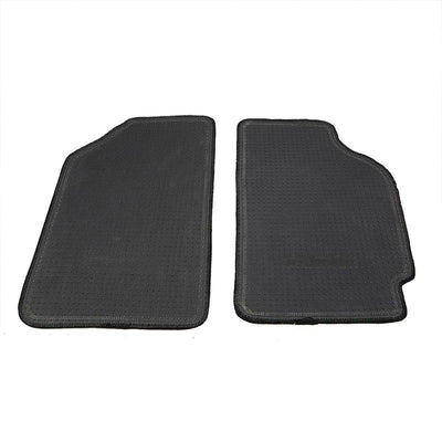 NRG Innovations CRX Logo Front Black Floor Mats Carpet Pads For 88-91 Civic/CRX-Pedals & Pads-BuildFastCar