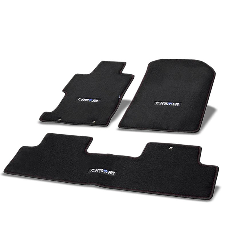 NRG Innovations Logo Front/Rear Floor Mats Carpet Pads Rug For 06-11 Civic Coupe-Pedals & Pads-BuildFastCar