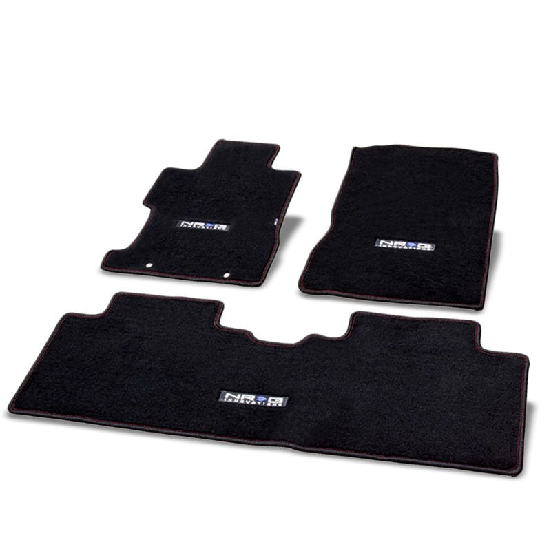 NRG Innovations Logo Front/Rear Floor Mats Carpet Pads Rug For 06-11 Civic Sedan-Pedals & Pads-BuildFastCar
