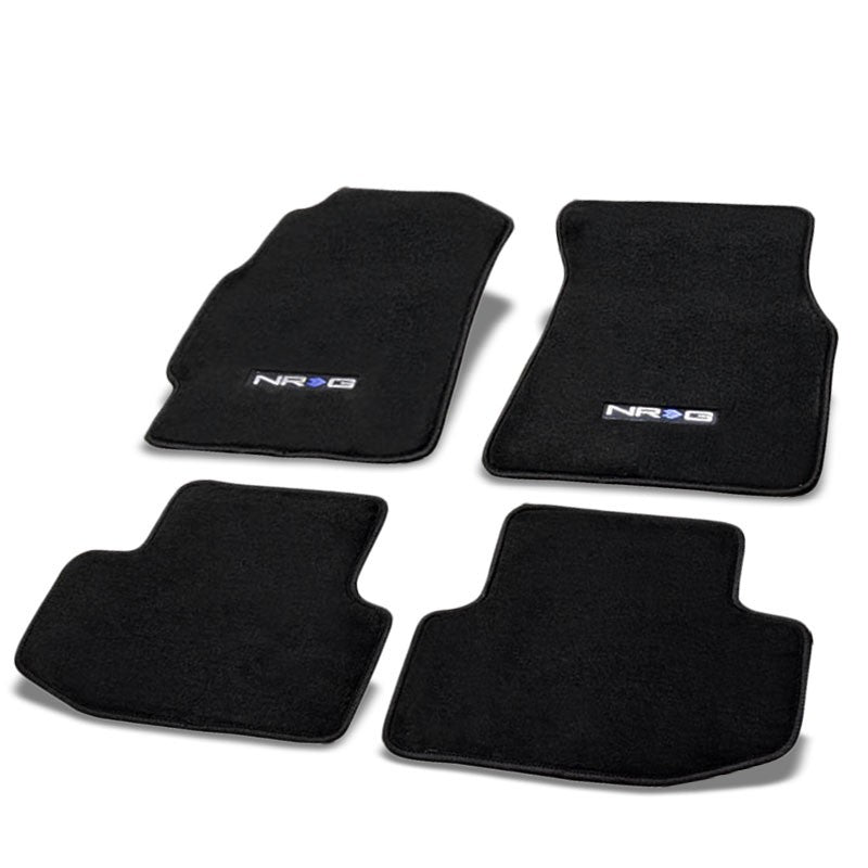 NRG Innovations Logo Front/Rear Floor Mats Carpet Pads Rug For 94-01 Integra DC2-Pedals & Pads-BuildFastCar