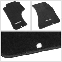 NRG Innovations 240SX Logo Front Black Floor Mats Carpet Pads For 89-98 240SX-Pedals & Pads-BuildFastCar