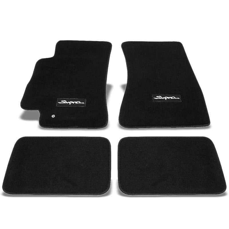 NRG Innovations Logo Front/Rear Floor Mats Carpet Pads For 93-98 Toyota Supra-Pedals & Pads-BuildFastCar