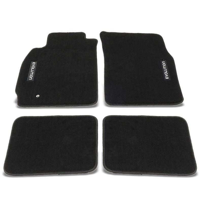 NRG Innovations Front/Rear Floor Mats Carpet Pads For 03-06 Lancer Evolution-Pedals & Pads-BuildFastCar