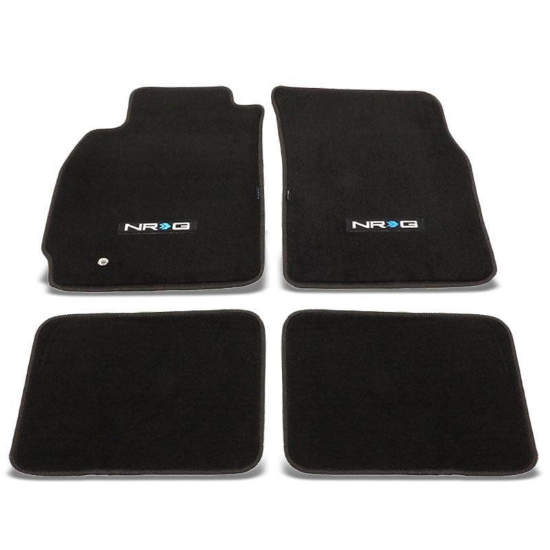 NRG Innovations Logo Front/Rear Floor Mats Carpet Pads Rug For 03-06 Lancer Evo8-Pedals & Pads-BuildFastCar
