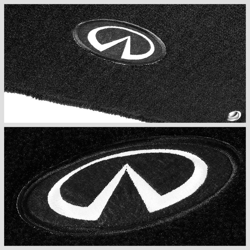 NRG Innovations Front/Rear Black Floor Mats Carpet Pad For 14-19 Infiniti Q70-Pedals & Pads-BuildFastCar