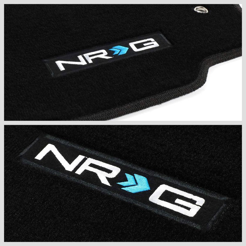 NRG Innovations Logo Front Black Floor Mats Carpet Pads Rug For 06-14 VW GTI-Pedals & Pads-BuildFastCar