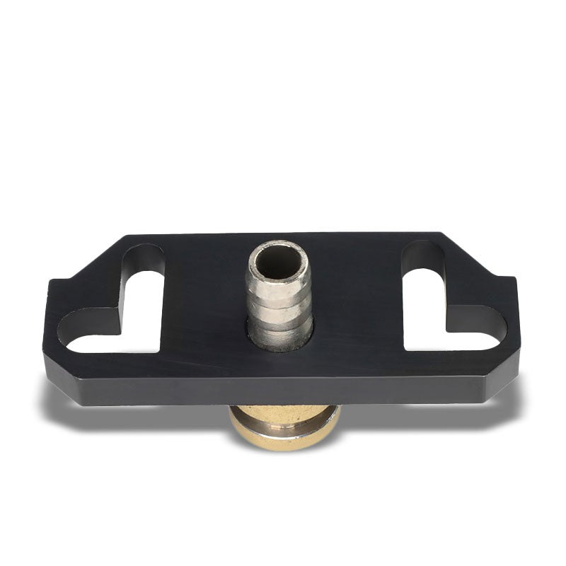 NRG Black FRG-MITC Fuel Pressure Regulator Block Off Plate For 95-99 Eclipse-Fuel Systems-BuildFastCar-BFC-NRG-FRG-MITC