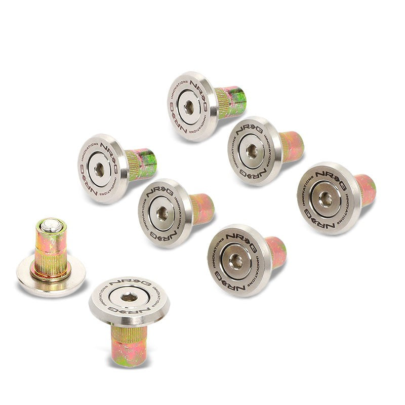 NRG 8PC Rivets for Metal Bumper Trunk Fender Washer Stainless Steel/Silver Bolt-Washer-BuildFastCar