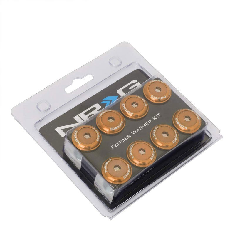 NRG 8PC Rivets for Plastic 20MM Bumper Trunk Fender Washer Kit Rose Gold/Bolt-Washer-BuildFastCar