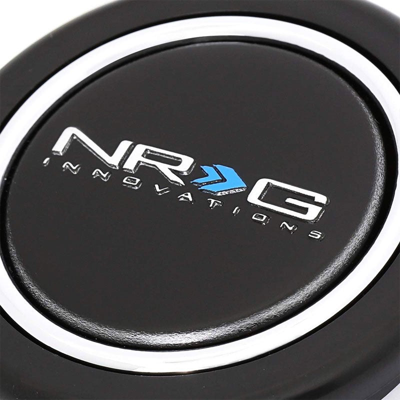 NRG Innovations Glossy Black HT-001 Steering Wheel Horn Button Replacement-Steering Wheels & Accessories-BuildFastCar-BFC-NRG-HT-001