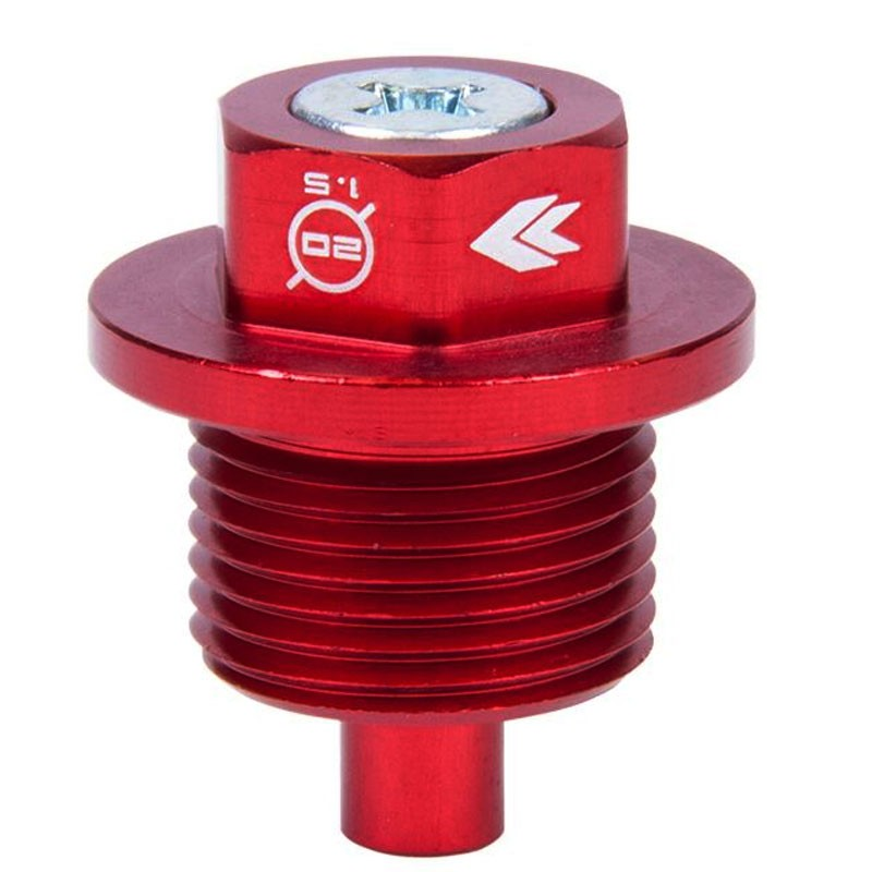 M20 x 1.5 NRG Red Aluminum 5000 Gauss Magnetic Oil Drain Plug For Subaru-Performance-BuildFastCar