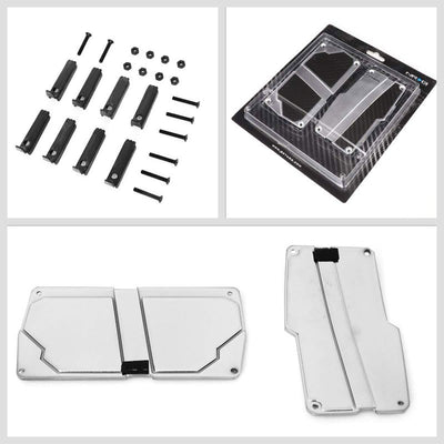 NRG NRG-PDL-150SL Brake/Gas/Clutch Automatic AT Race Foot Pedal Plates Cover Set-Pedals & Pads-BuildFastCar