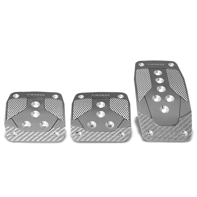 NRG NRG-PDL-400GM Brake/Gas/Clutch Manual MT Race Foot Pedal Plates Cover Set-Pedals & Pads-BuildFastCar