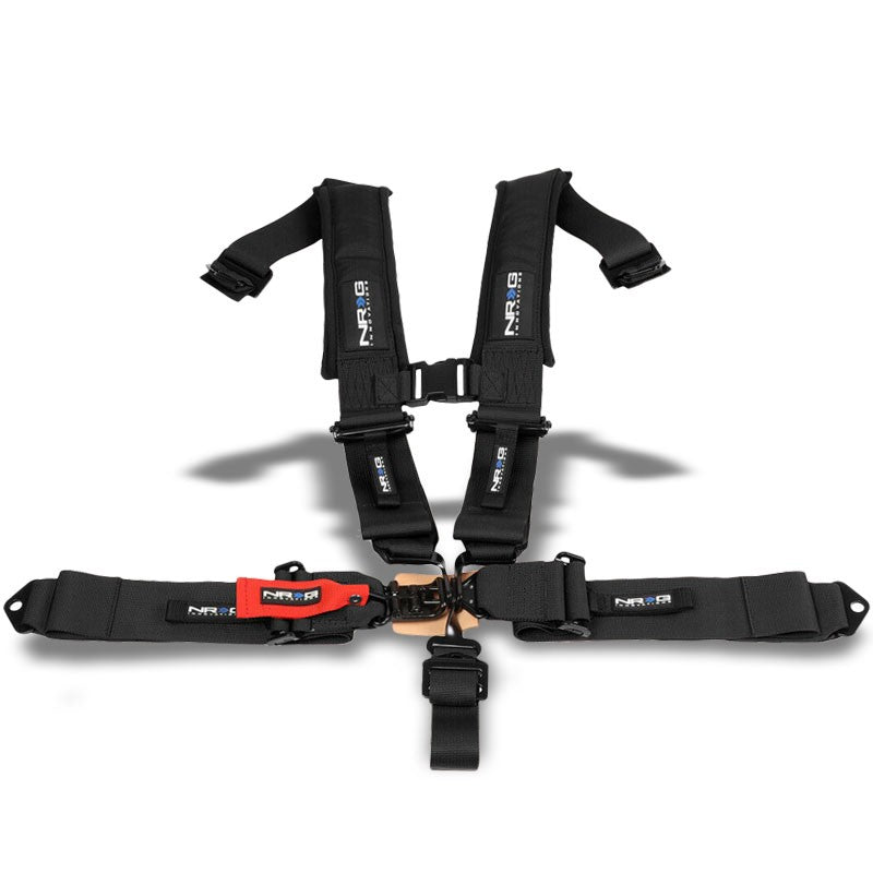 NRG SBH-5PCBK-620 5Point Latch Link Black SFI 16.1 Seat Belt Harness W/Cushion