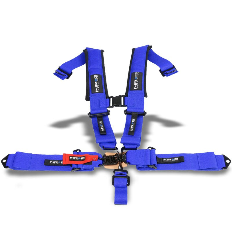 NRG SBH-5PCBL-620 5Point Latch Link Blue SFI 16.1 Race Seat Belt Harness Cushion