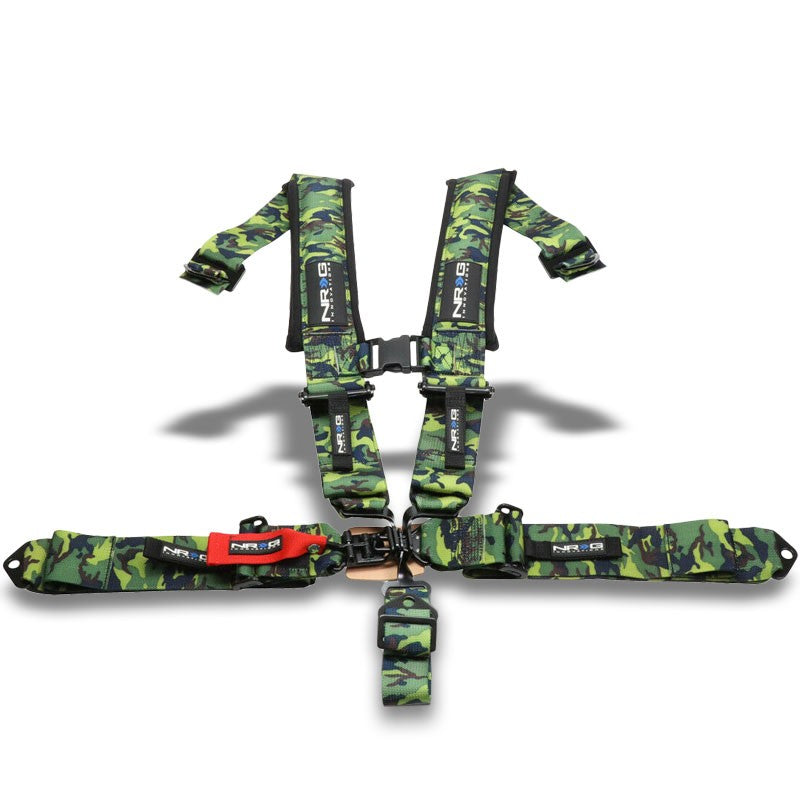NRG SBH-5PCCAMO-620 5-Point Latch Link Green Camo SFI 16.1 Seat Belt Harness