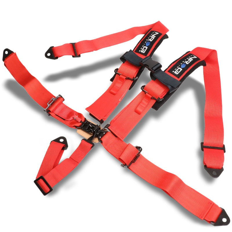 NRG SBH-R5PCRD 5-Point Latch Link Red SFI Approved 16.1 Racing Seat Belt Harness