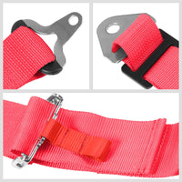 NRG SBH-R6PCPK 5-Point Cam Lock Pink SFI Approved 16.1 Racing Seat Belt Harness