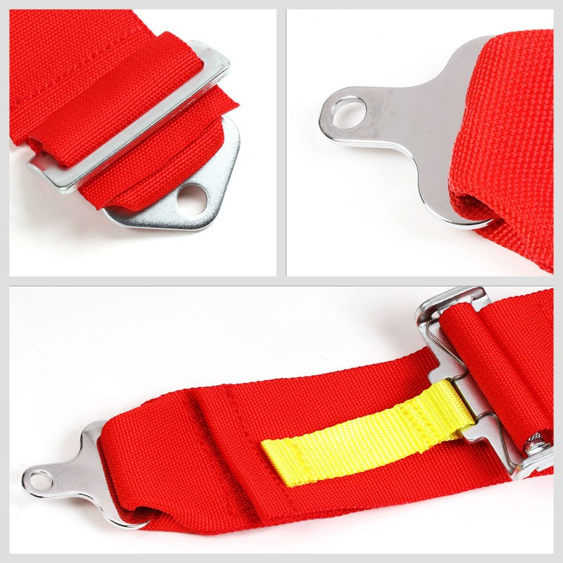NRG SBH-RS5PCRD 5-Point Cam Lock Red SFI Approved 16.1 Racing Seat Belt Harness