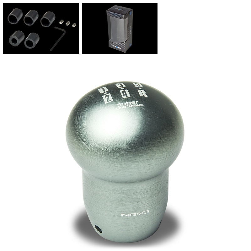 NRG Gunmetal Super Low 5-Speed Manual M8 M10 M12 SK-140GM Racing Shift Knob