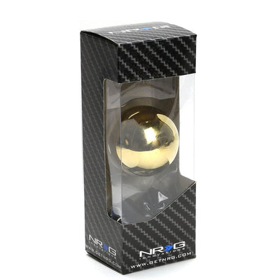 NRG SK-300CGD-W Chrome Gold Clear Pattern Ball Style Shift Knob+Insert Adapter