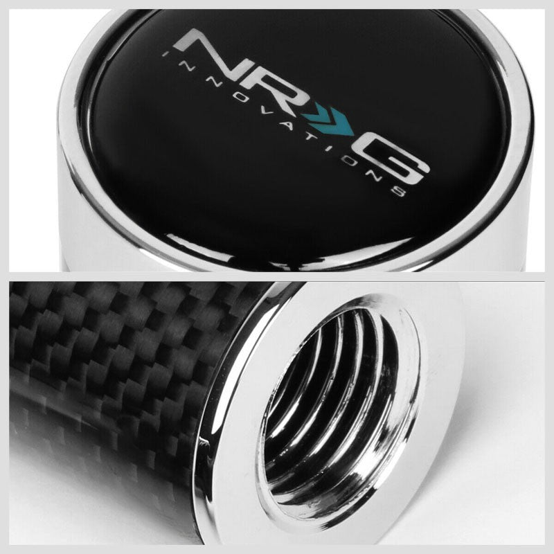 NRG Black Carbon Slimboy Adjust 10mm x 1.25 Thread SK-580BC-1 Racing Shift Knob